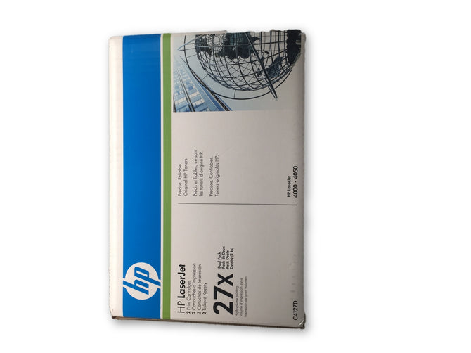HP 27x  HP 27X C4127X Black LaserJet Toner Print Cartridge - Blue Box
