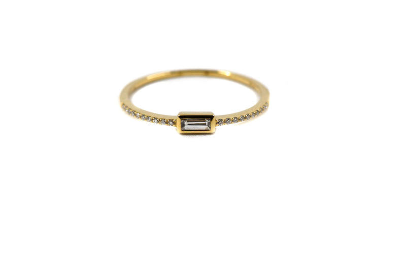 Diamond Baguette Stacking Ring