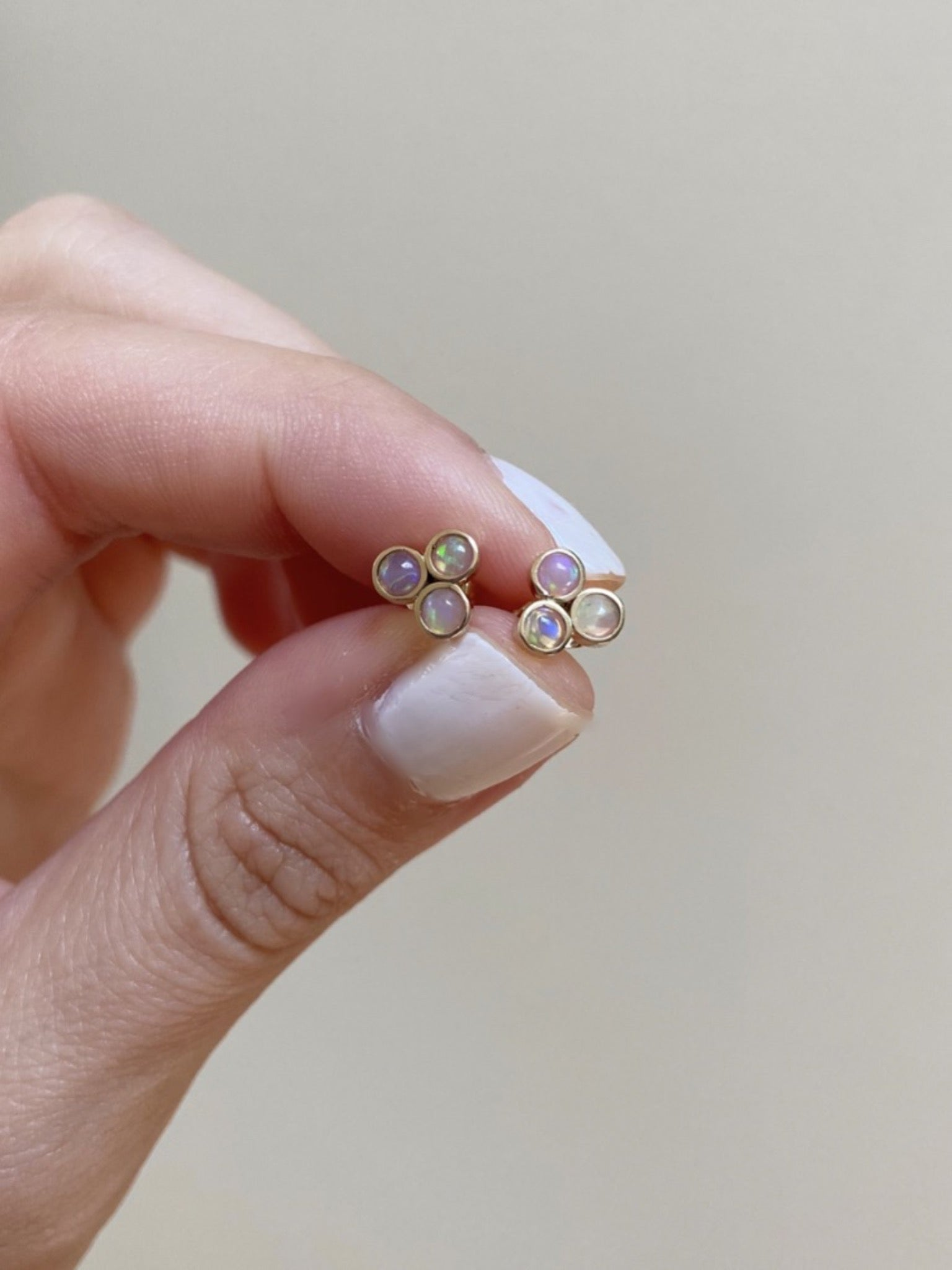 Opal Trio Stud Earrings