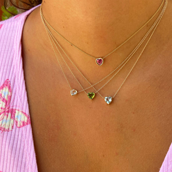 Double Point Gem Necklace (Opalite, Amethyst Quartz, Turquoise, or Rose Quartz) - C.Henry Jewelry