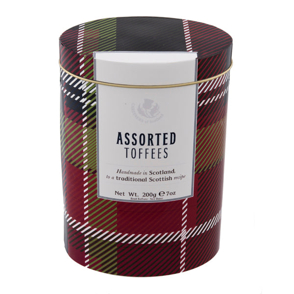 Assorted Toffees Tartan Design Tin - 7oz