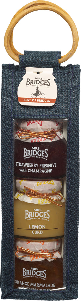Best of Bridges Jute Bag - 3 x 4oz Jars