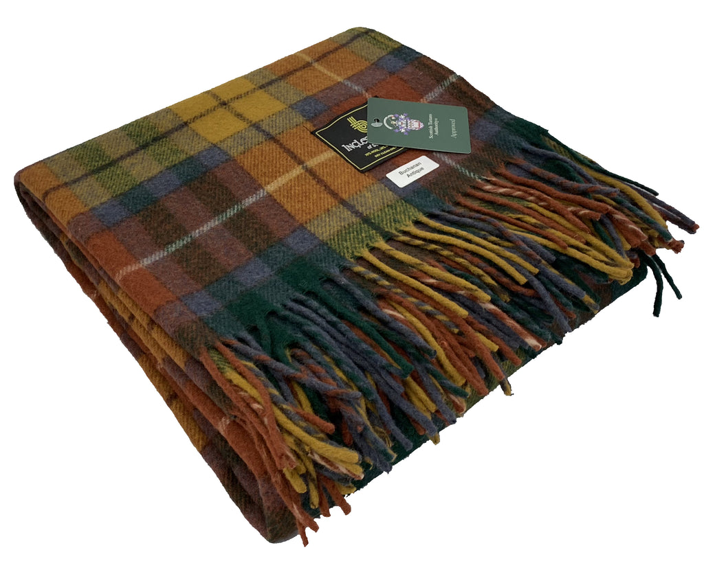 """Buchanan Antique"" Wool Blend Blanket"