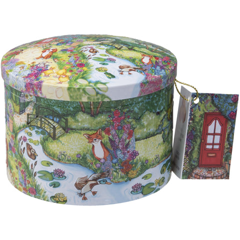 Country Garden Tin with Dairy Cream Fudge - 7oz