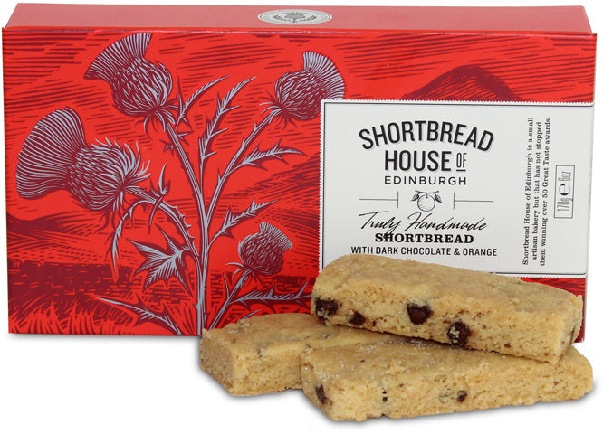 Shortbread Fingers Box - Dark Chocolate Chip & Orange