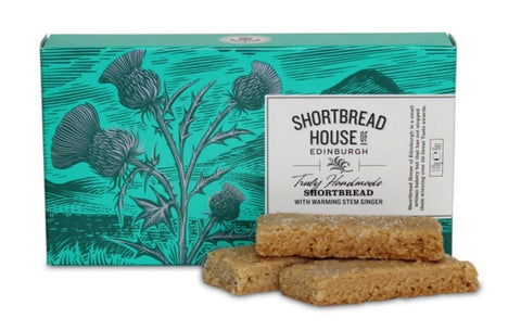 Shortbread Finger Box - Stem Ginger Flavor - The Scottish Grocer