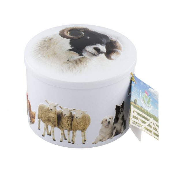 Farm Animals Vanilla Fudge Tin