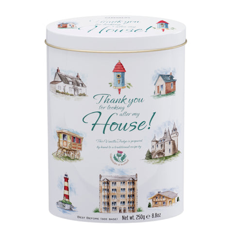 "Thank You Tin ""House"" - Vanilla Fudge -8.8oz - The Scottish Grocer"