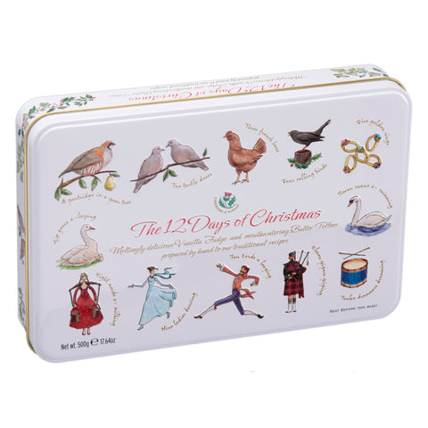 The 12 Days Of Christmas Fudge & Toffee Tin