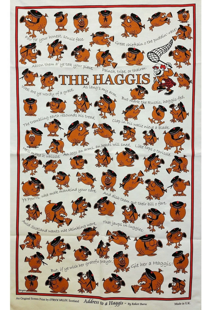 Haggis Hunt Tea Towel / Wall Hanging - The Scottish Grocer