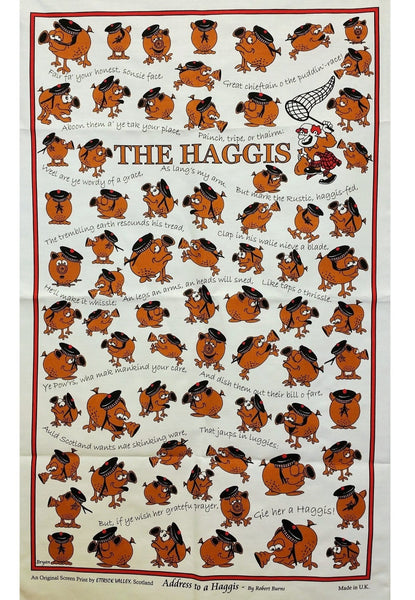 Haggis Hunt Tea Towel / Wall Hanging