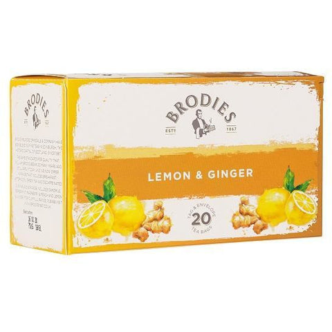 Lemon & Ginger Tea, 20 Count - The Scottish Grocer