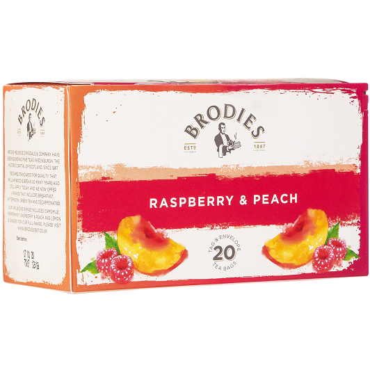 Raspberry & Peach Tea, 20 Count - The Scottish Grocer