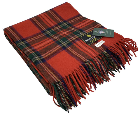 """Royal Stewart"" Wool Blend Blanket"
