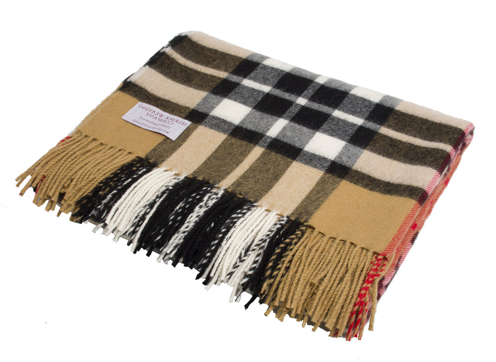 Thompson Camel Lambswool Blanket
