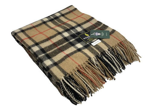"""Thompson Camel"" Wool Blend Blanket"