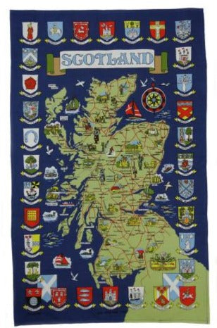 Town Coat of Arms Tea Towel / Wall Hanging