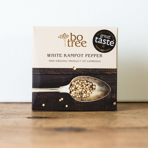 100% Organic White Kampot Pepper, 3oz