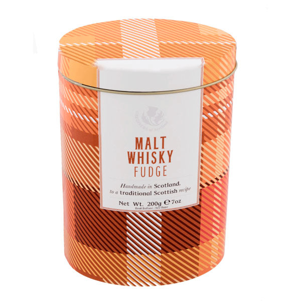 Malt Whisky Fudge Tartan Design Tin - 7oz