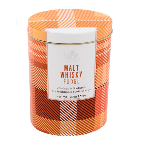 Malt Whisky Fudge Tartan Design Tin