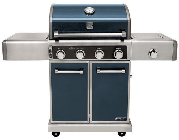 Kenmore Elite 4 Burner plus Side Burner-Metallic Gun Metal Finish (Pre-Assembled)