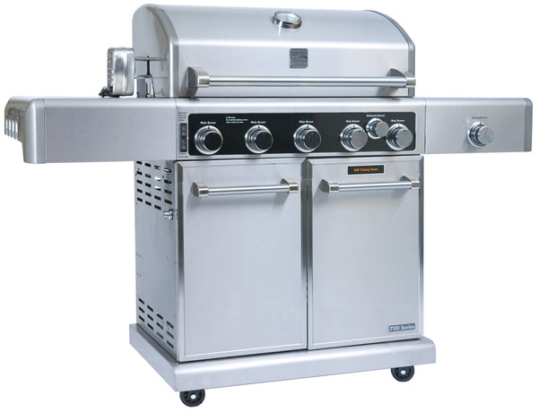 Kenmore Elite 5 Burner plus Searing Side Burner, Rear Burner with Rotisserie Kit (Pre-Assembled)