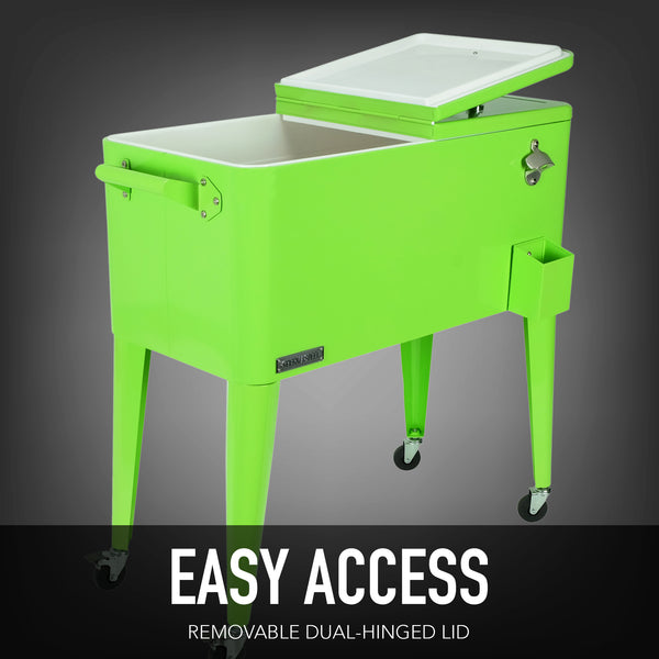 80 Qt. Rolling Patio Cooler - Lime