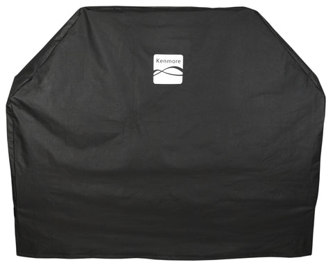 "Kenmore Grill Cover, Black Fits Grills up to 56"" x 25"" x 44"", Black"