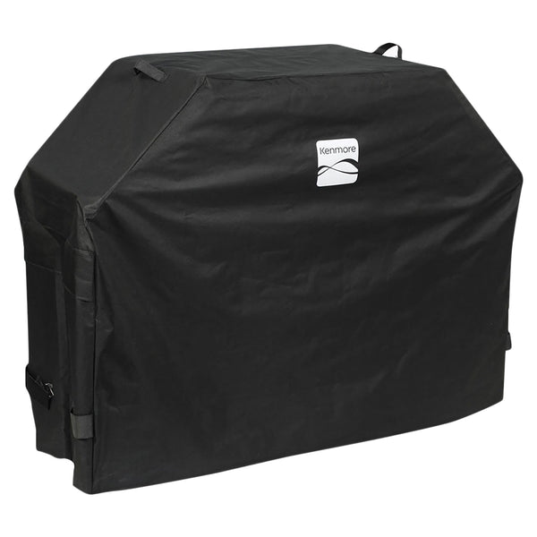 "Kenmore Grill Cover Fits Grills up to 56"" x 25"" x 44"", Black"