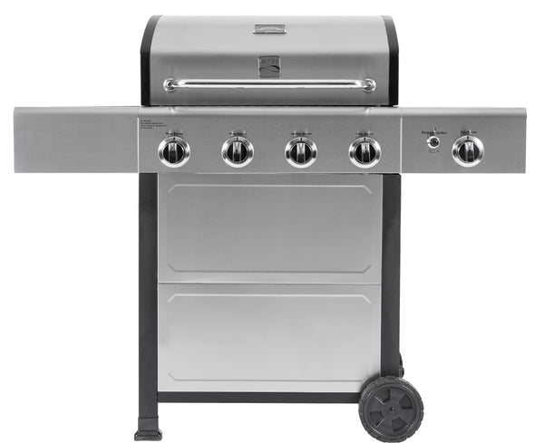 Kenmore 4 Burner plus Side Burner Grill with Stainless Steel Lid & Front Panel