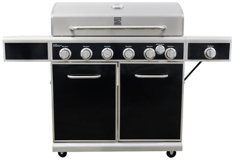 Kenmore 6 Burner Heavy Duty Grill with Infrared Rear Burner Plus Side Burner