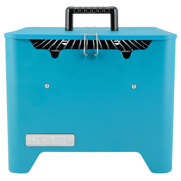 Permasteel Portable Square Charcoal Grill, Teal