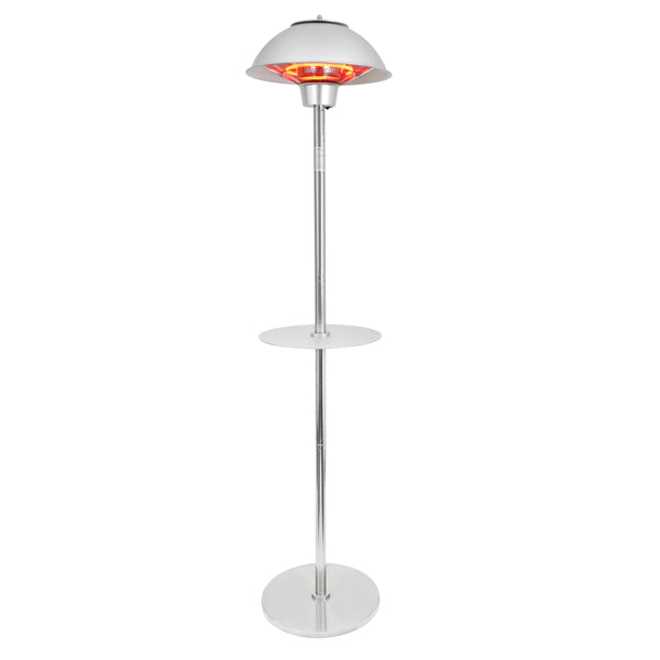 Permasteel 1500W Electric Infrared Stainless Steel Patio Heater with Table