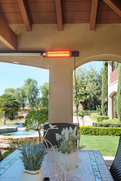 Permasteel 1500W Electric Mounted Patio Heater with Remote Control, for Wall or Ceiling
