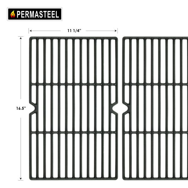 Permasteel Grill Parts for Kenmore 3 Burner Grill Cooking Grates (Set of 2)