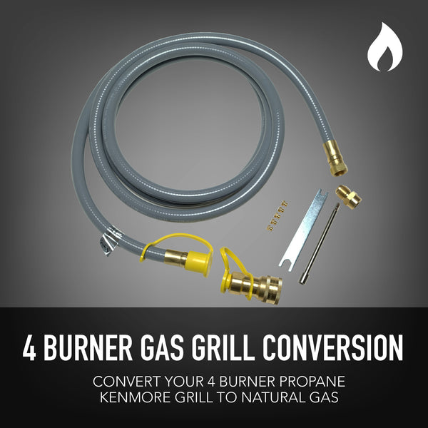 Permasteel Natural Gas Conversion Kit for Kenmore Grills 4-Burner + Searing Burner
