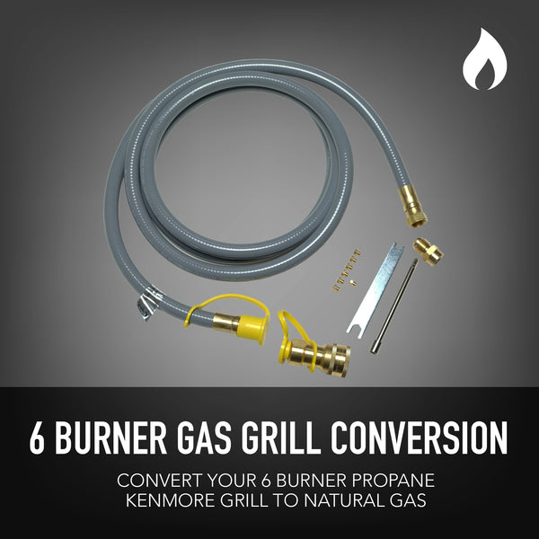 Permasteel Natural Gas Conversion Kit for Kenmore Grills 6-Burner + Side Burner