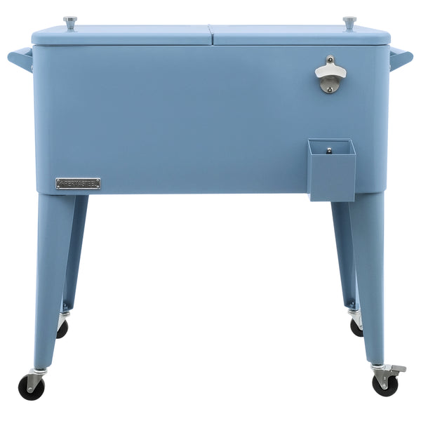 80 Qt. Rolling Patio Cooler - Dusty Blue