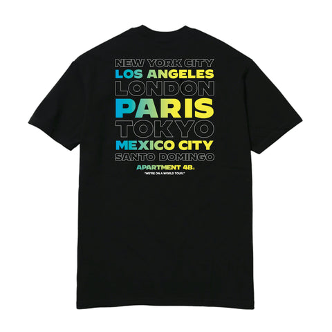"APT.4B ""World Tour"" Tee in Black (back)"