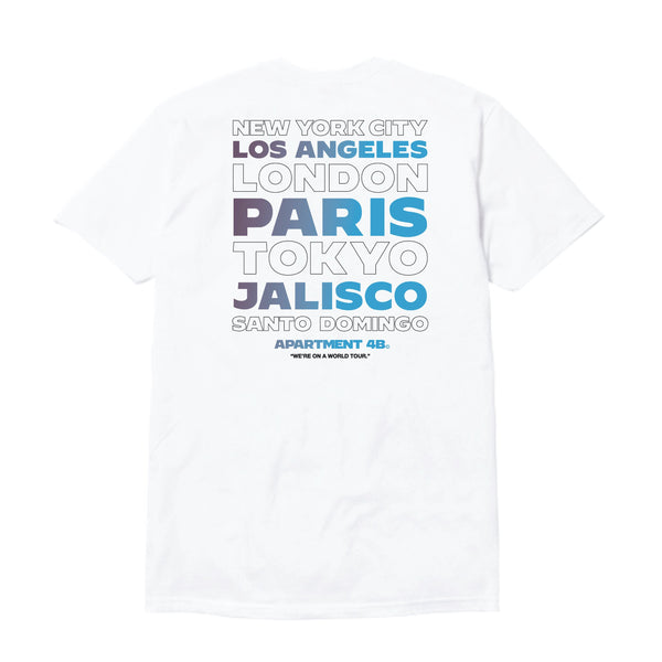 "APT.4B ""World Tour"" Tee in White (back)"