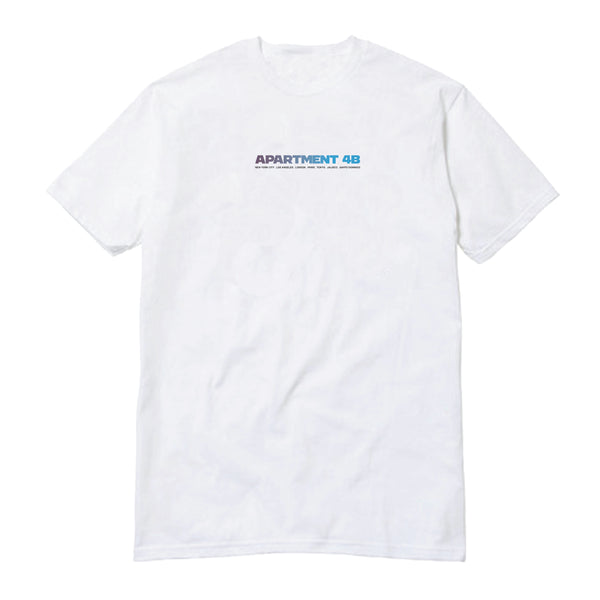 "APT.4B ""World Tour"" Tee in White (front)"