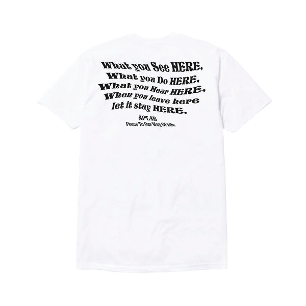 APT.4B Wise T-Shirt in White (back)