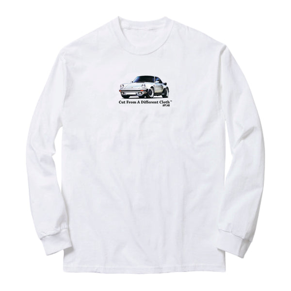APT.4B Porsche 911 Long Sleeve T-Shirt in White