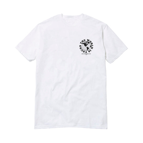 APT.4B Globe T-Shirt in White (front)