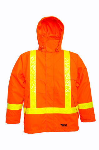 Viking 3010J Journeyman Hi-Viz Orange 300D Safety Jacket