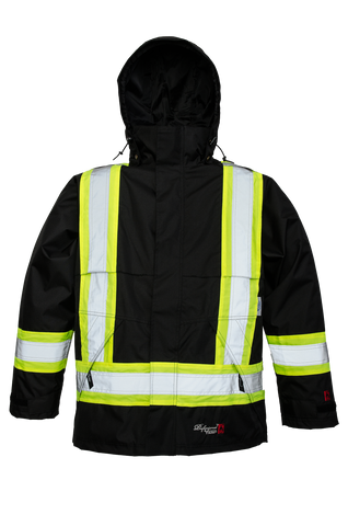 Viking 3907FRJ Professional Journeyman Fire Resistant Safety Jacket with Hood