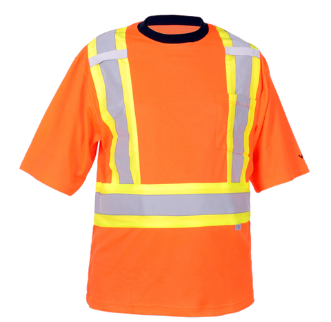 Viking 6000 Journeyman UPF 50+ Polyester Mesh Cotton Lined Safety T-Shirt