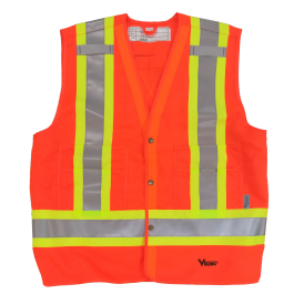 Viking 6160 Tall Safety Vest, Solid 150D Polyester