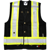 6165FR Viking Open Road FR Surveyors Vest, Black