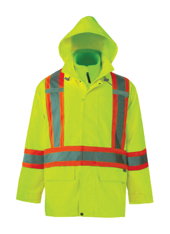 Viking 6400J Journeyman 300D 3-in-1 Safety Jacket with Hood